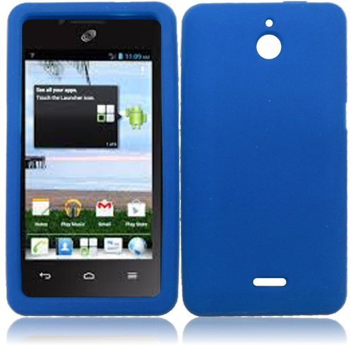 For Huawei Ascend Plus H881C Huawei Valiant Silicone Jelly Skin Cover Case Cool Blue Accessory