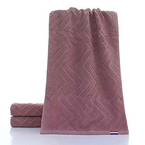 FHK Toallas de fibra de bambú, toallas de fibra de bambú de fibra larga, toallas de algodón liso, toallas muy absorbentes y suaves, 2 unidades (morado)