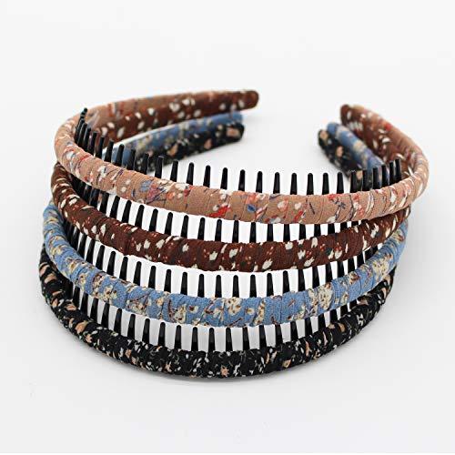 JOBAND Fashion floral teeth Headbands comb Hair Accessories Non-slip Hair bands Soft Comfy Hair Hoop for Women Girl(4 color)