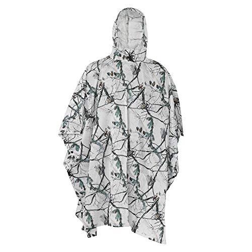 Regenponcho, Multifunktionaler Schnee Regenmantel mit Kordelzug Kapuze Erwachsene Regenmantel Abdeckung Zelt Wandern für Outdoor Camping Reisen Wandern