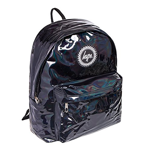 HYPE Holographic Backpack Black Schoolbag BTS18131 Hype bags