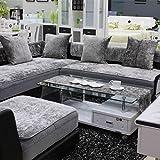 TY&WJ Plüsch Anti-rutsch Sofabezug Wohnzimmer Sofabezug Outdoor Couch-abdeckungen Möbel Protector Für ledersofa Haustier Hund & Kinder-Grau 60x150cm(24x59inch)