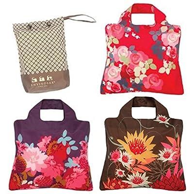 Envirosax Eco-Friendly Bloom Reusable Shopping Bags (set of 3)