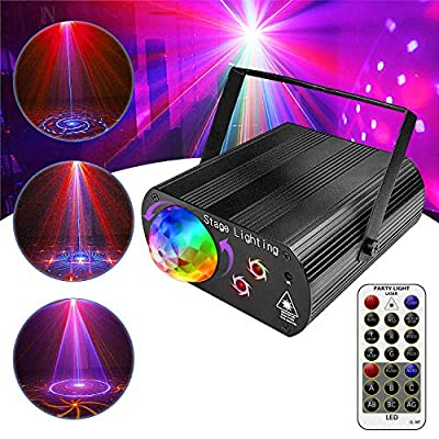 Disco Lights, Gvoo Sound Activated Party Lights RGB LED Rotating Ball Lights with Remote Control for Home Outdoor Holidays Dance Parties Birthday