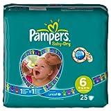 Pampers Baby Dry Windeln Gr.6 Extra Large Sparpaket 16 plus kg, 25 St�ck