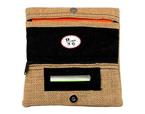 Plan B, Pitillera Tabaco de Liar, Yolo Saco, 16 x 8,5 cm, 50 gr, con Bolsa Interior de Goma EVA, Yute Natural