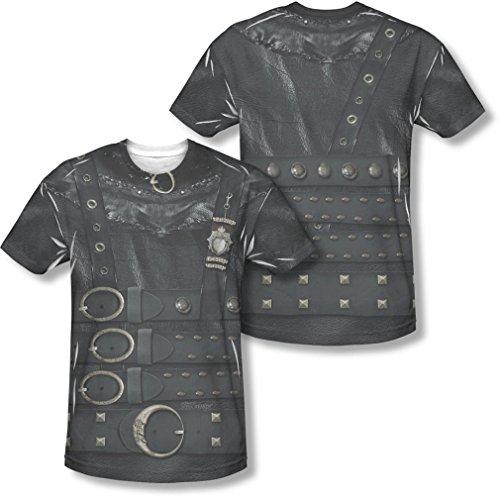 Edward Scissorhands - Herren Edward Kostüm (vorne / hinten Print) T-Shirt, XXX-Large, White