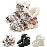 GURGER Botas de Estar por Casa Mujer Zapatillas Casa Altas Invierno Botas Pantuflas de Casa Calentitas Botines 39 40