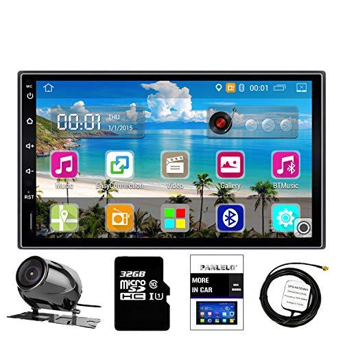 Panlelo PA09YZ32, Autoradio 2 DIN 7 Pouces Full HD Ecran Tactile Chef Unité Android Navigation GPS Voiture stéréo Quad Core 16G+ 32G Flash Bluetooth AM/FM/RDS Radio WiFi Caméra de Vision arrière