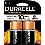 Duracell Batteries, Size D (2 Batteries)
