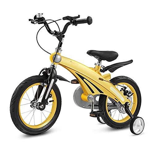 N&I Bicicleta infantil de altura ajustable, 12 pulgadas, 14 pulgadas, 16 pulgadas, para niños de 2 a 11 años, color rosa
