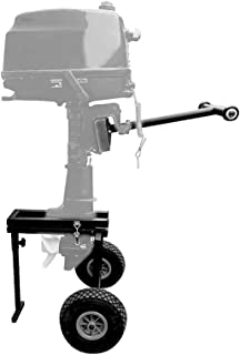 Aquos EASYMATE Folding Marine Outboard Motor Stand/Outboard Engine Carrier for Small to Medium Boat Engine, Max 20HP / 90 LBs