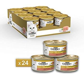 Gourmet Gold Pâté pour Le Chat, avec légumes, avec Canard, Carottes et épinards, 85g–Lot de 24pièces