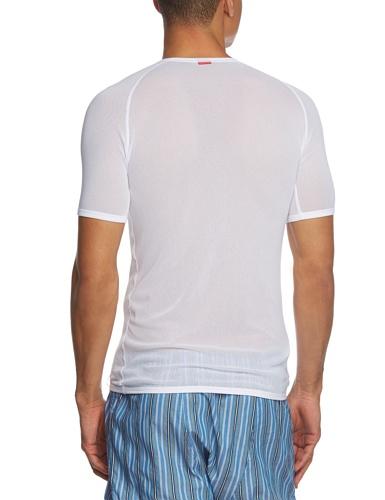 Löffler Herren Unterhemd Netz-Shirt Transtex Light Plus Weiß, 46 - 2