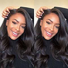Hair Material:Brazilian Body Wave Hair, 100% Unprocessed Virgin Brazilian Human Hair, Cut From Young Girl Donor,Cuticle Intact He Same Direction,Soft Bouncy Shiny Full Bundles, No Synthetic,(Warm Tips: Synthetic hair and human hair are different. You...