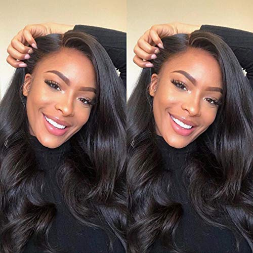 Gabrielle (18' 20' 22') Body Wave Brazilian Human Hair Bundles 100% Unprocessed Brazilian Virgin Human Weave Hair Bundles Natural Color Hair Weave Extensions