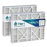 Tier1 Pleated Air Filter - 20x25x5 - MERV 13...