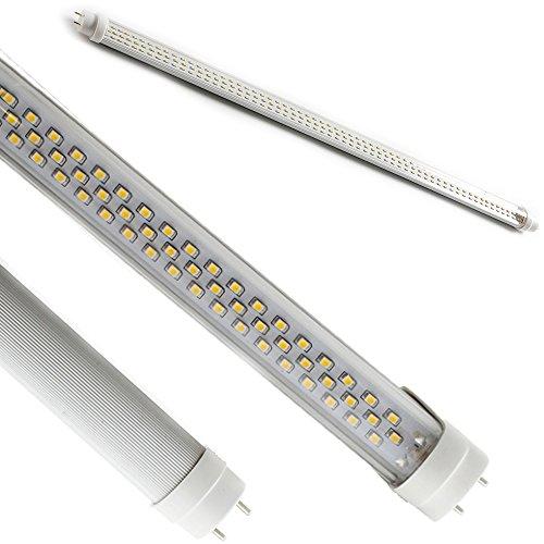 FuturPrint - Kit de 4 tubos transparente de neón LED SMD de alta luminosidad con una duración de hasta 50.000 horas de funcionamiento sin necesidad de cebadores ni reactores, color blanco frío (120 cm, casquillo T8, 20 W = 190 W, 6000-6500 K, 1800 lúmenes, 220 V)