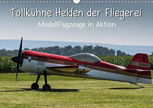 Tollkühne Helden der Fliegerei - Modellflugzeuge in Aktion (Wandkalender 2020 DIN A3 quer): Kleine und große Modellflugzeuge in Aktion (Monatskalender, 14 Seiten ) (CALVENDO Hobbys)