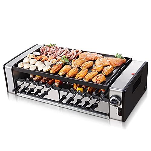 Parrilla eléctrica sin humo Parrilla interior Parrilla de sincronización Pinchos en espiral de barbacoa de kebab giratorios automáticos verticales Adecuado para reuniones familiares Fácil de limpiar
