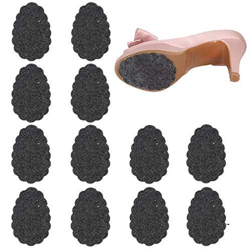 Rutschfestigkeit Schuhunterlage Nicht Skid Gummi Sohle an der Unterseite für High Heels (Selbstklebend,Schwarz,12 Paar)