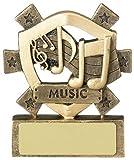 8,25 cm con incisione personalizzata fino a 30 lettere A1241 Mini microfono Star-Trofeo premio 3,25