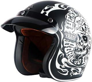 Adulto 3/4 Open Face Helmet Hombres Abs Retro Motocicleta Ligera Anti Fall Mujeres Eléctrico