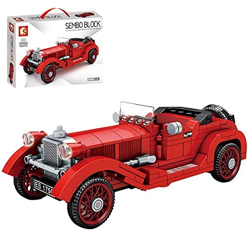 LINANNAN Technics Classic Car Conjunto de automóviles Compatible con Lego Technic, 324pcs Technic Retro Vintage Modelo de automóvil, Bloques de construcción para Adultos y niños