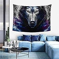 タペストリーオオカミ壁掛け壁アートホームプリント壁画耐久性のある多機能装飾寝室用180x200cm
