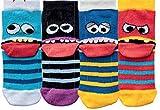 socksPur Kinder Söckchen Freche Bande 6er PACK (türkis-schwarz-blau-rot in 3er Pack vorsoriert, 39-42)