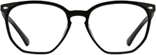 TIJN Unisex Vintage Irregular Blue Light Filter Glasses for Computer Harmful Ray Blocker Eyeglasses