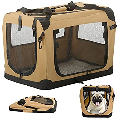 Suncast Portable Folding Pet Carrier for Dogs Cats or Small Animals