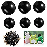 60 Pieces 14-24 mm Safety Eyes Stuffed Animal Eyes Plastic Doll Eyes Black Safety Eyes for DIY of Puppet Bear Crafts Crochet Toy Doll Making Supplies, 6 Sizes