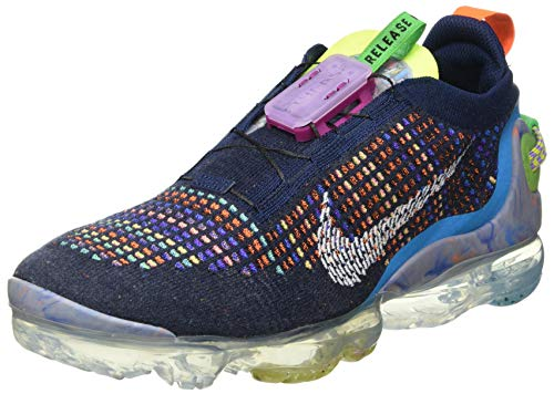 Nike Men's AIR Vapormax 2020 Flyknit Running Shoes (Deep Royal Blue/White/Multi-Color, 13)