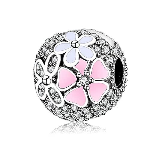 LIIHVYI Pandora Charms para Mujeres Cuentas Plata De Ley 925 Clip Poetic Bloom con Joyas Compatible con Pulseras Europeos Collars