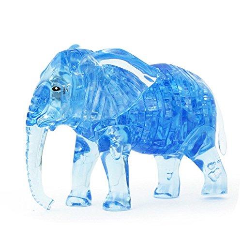 3D Crystal Puzzle41 Pieces 3D Puzzle Educational Toys Kids Toys - Elephant