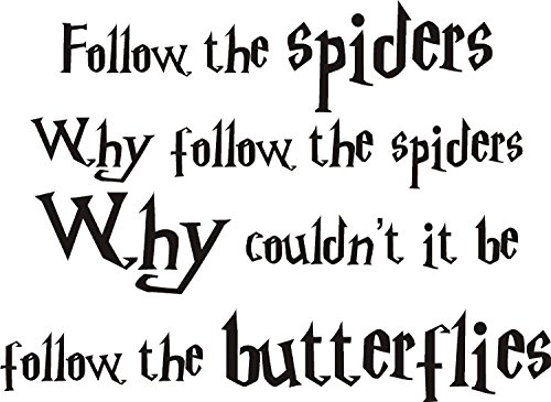 Harry Potter Ron Weasley araignées Art Mural en vinyle. 2 tailles. Film pour enfant, Vinyle auto-adhésif, bordeaux, MEDIUM 90x45CM