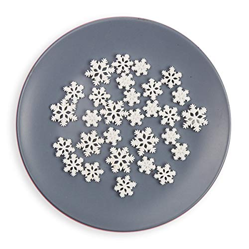 48 PCS Christmas Resin Snowflake White Snow Flake DIY Scrapbooking Craft Accessories Craft Merry Christmas Resin Flat Backs DIY Craft