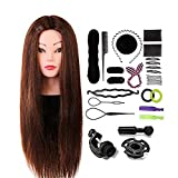 Neverland Beauty 24 Inch 60% Real Hair Hairdressing Training Head Practice Mannequin Head