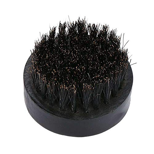 Yuyanshop Cepillo para barba con cepillo de bigote negro con cerdas de jabalí natural, herramienta de limpieza de aseo ayuda a suavizar y acondicionar bigotes