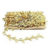 1 cinta de la hoja de oro paquete de hoja de plata de cintas del ajuste de la del embalaje de regalo de bricolaje Manualidades Decoración (32Yard, oro)