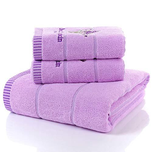 storefront Baumwolle Lavendel Badetuch Männer und Frauen verdickt saugfähigen Badetuch Tube Top Badetuch dreiteiligen Satz