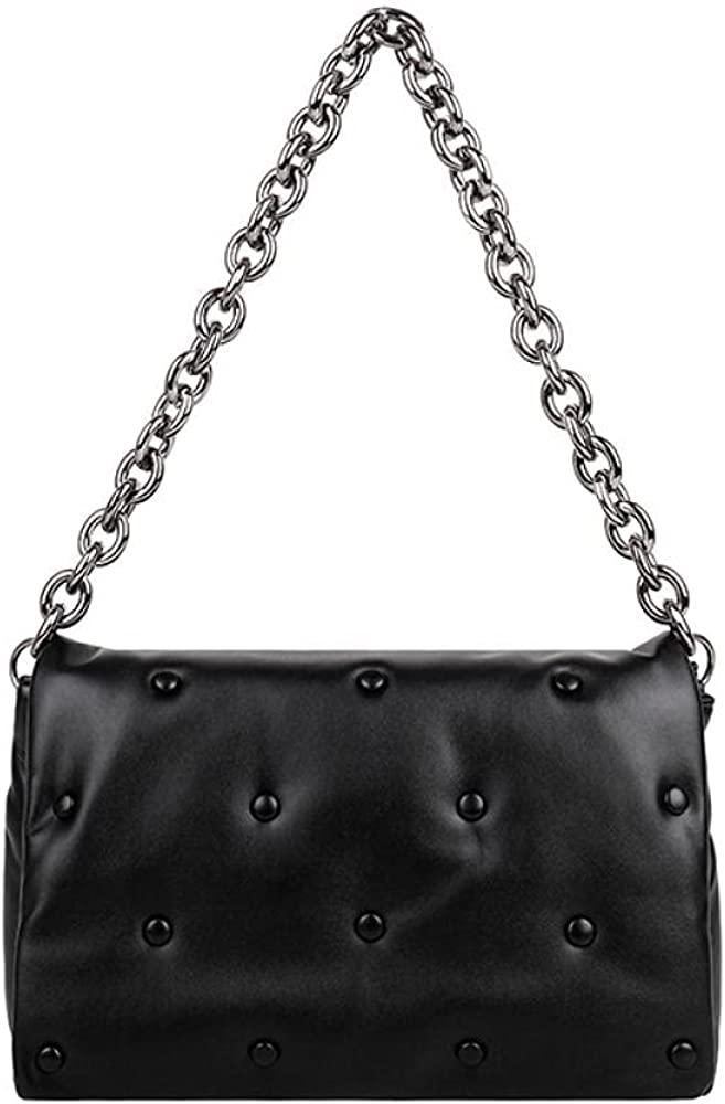 Thick Chain Women's Shoulder Bags PU Leather Female Handbags and Purse Women Clutch Bag Lady Hobo Bag