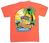 Route One Apparel | Officially Licensed Crabaritaville - Old Bay, USA Shirt (Medium, Bright Salmon)