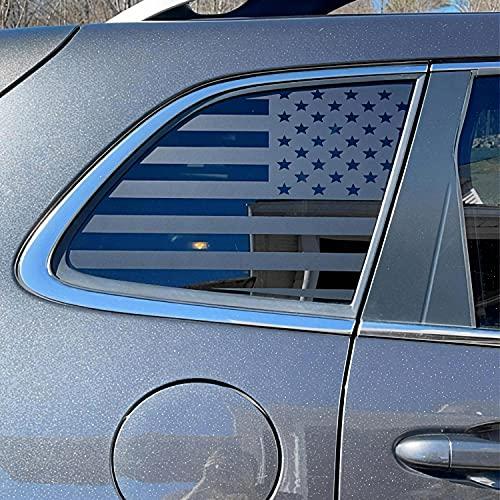 XPLORE OFFROAD - American Flag Window Decals Precut to Fit Jeep Cherokee 2014-2021 | Matte Black