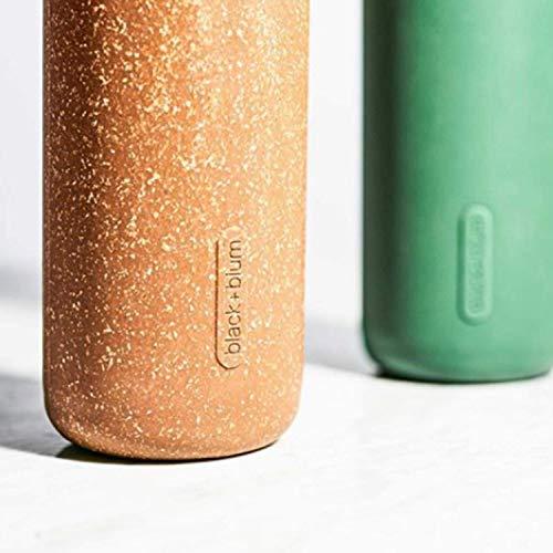 Black+Blum Leak-Proof, Lightweight Travel Protective Sleeve Glass Water Bottle, 600ml/ 20fl oz, Olive