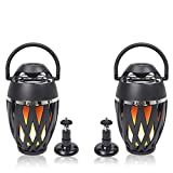 Sound Town 2-Pack Portable Bluetooth Speakers with LED Lights, True Wireless Stereo (TWS) Bluetooth, Wall Mount Brackets, and Decorative Flame, for Outdoors, House Party, Patio and Home (OPIK-F1-PAIR)