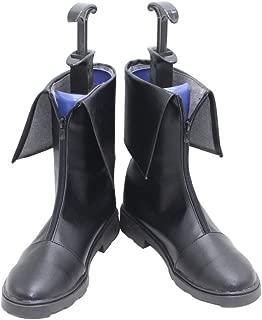YuanCos Steins Gate Makise Kurisu Black Short Cosplay Shoes Boots X002
