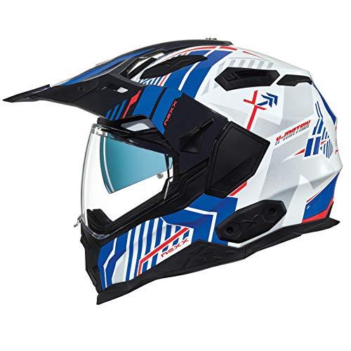 NEXX X.WED 2 Wild Country White Blue Motorcycle Helmet (M)