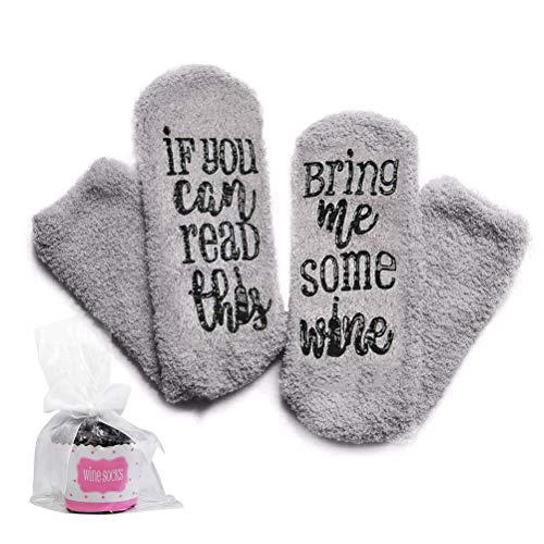 WOWOSS Neuheit Druck Socken, lustiges ungewöhnliches,Das beste einzigartige geschenk für Frau,Schwester,Freund, schrulligen niedlichen gemütlichen warmen Weihnachtsgeschenk mit Cupcake Geschenkpapier